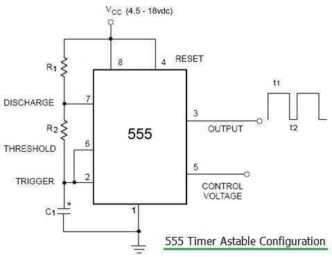 555 timer astable configuration