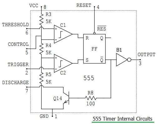 555 timer internal circuits