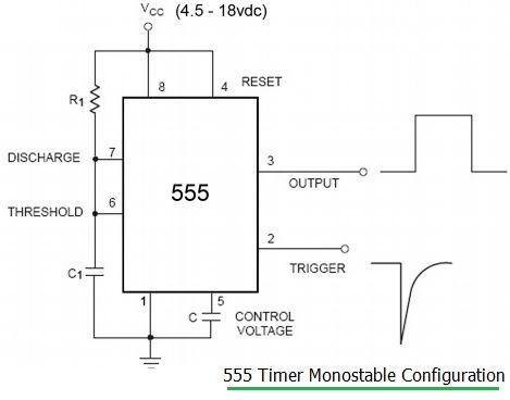 555 timer calculator monostable mode