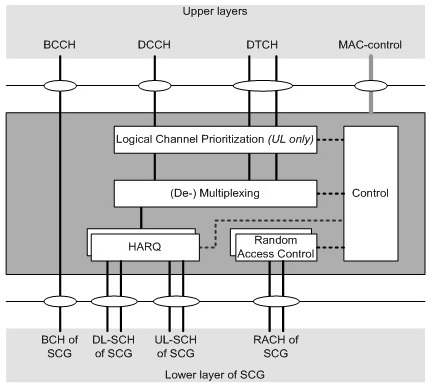 5G NR MAC structure overview,SCG