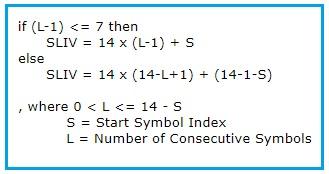 5G NR SLIV formula