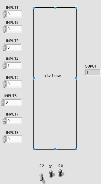 8 to 1 multiplexer labview vi FP