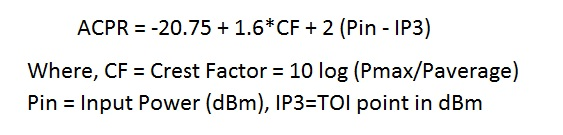 ACPR equation