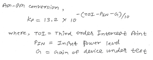 AM to PM conversion equation