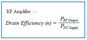 RF Amplifier drain efficiency formula or equation