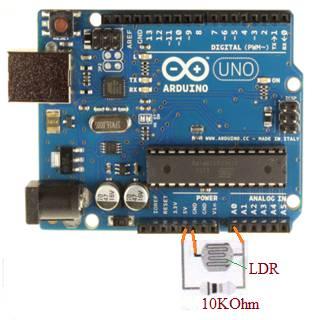 Arduino Interfacing with LDR sensor
