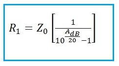 Balanced Attenuator Formula