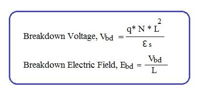 Baritt diode breakdown voltage