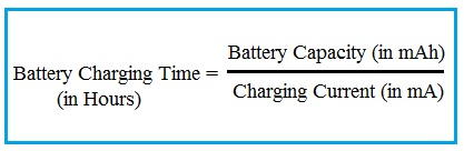 Battery Charging Time Formula
