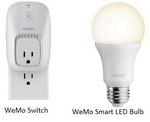 Belkin WeMo products