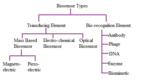 Different types of Biosensors, Biosensor types