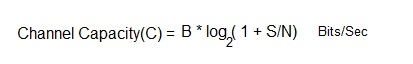Channel Capacity Equation
