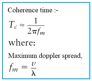 Coherence time formula