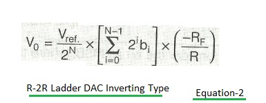 DAC output inverting type equation2