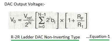 DAC output non-inverting type equation1