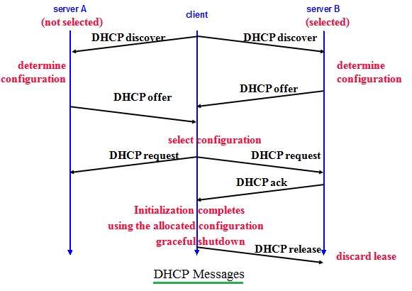 DHCP messages exchanged