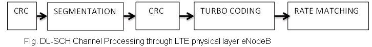 DL SCH channel processing through LTE physical layer