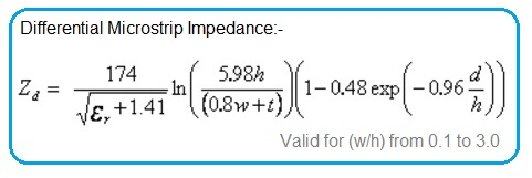 Differential Microstrip Impedance Formula
