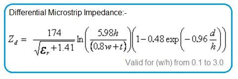 Differential Microstrip Impedance Formula