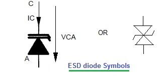 ESD diode symbols