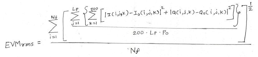 EVM Equation wimax