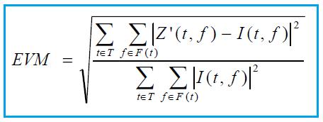 EVM formula 5G NR