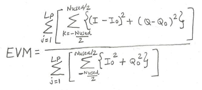 EVM equation