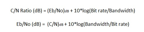 Eb/No calculator vs C/N ratio calculator