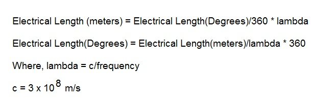 Electrical Degrees vs meter conversion equation