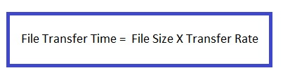 File Transfer Calculator Formula