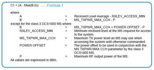 GSM C1 Formula