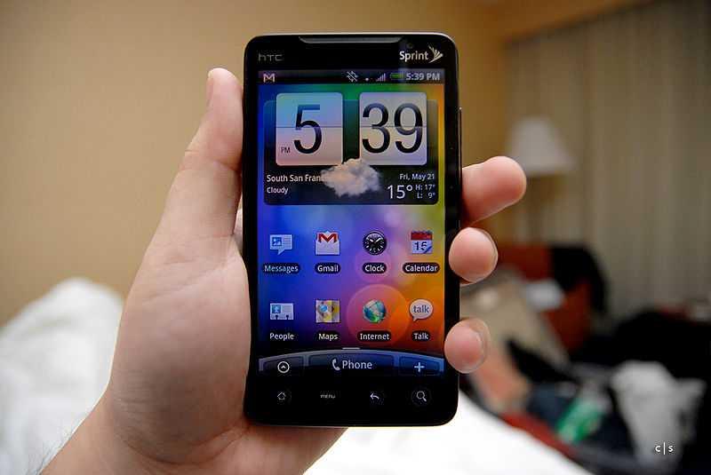 HTC EVO smartphone