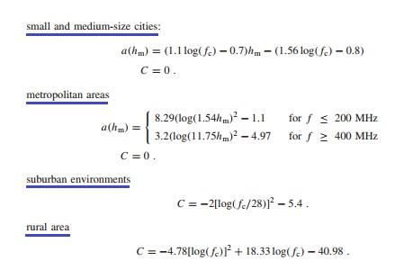 Hata Model Equations