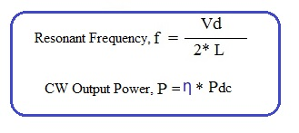 IMPATT diode formula, equation