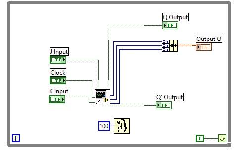 Design of Flipflops labview vi   SR JK T    D    labview source code