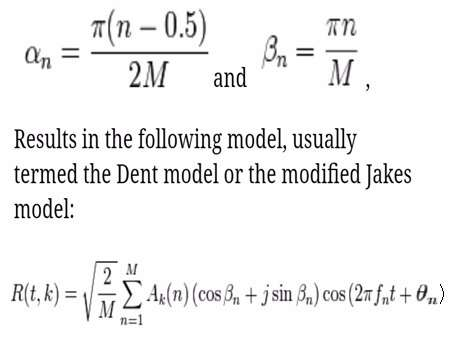 Jakes model formula or equation-3