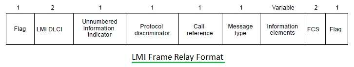 LMI frame relay format