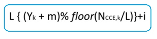 LTE CCE Index Calculation Formula