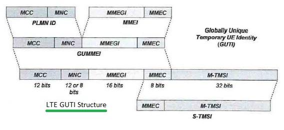 LTE GUTI structure