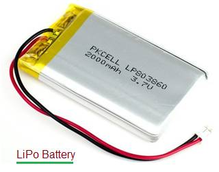 LiPo battery,lithium polymer battery