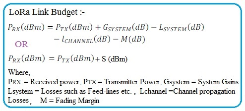 LoRa Link Budget Formula