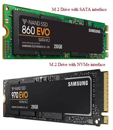 M-2 Drive for SATA and NVMe SSDs
