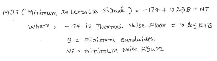 MDS, Minimum Detectable Signal equation