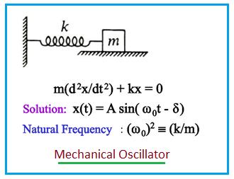 Mechanical Oscillator, Harmonic Oscillator