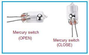 Mercury Tilt Switch