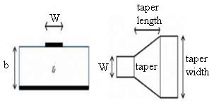 Microstrip transition taper