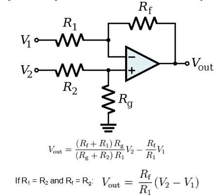 Op-Amp differential amplifier