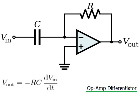 Differential integrator op amp circuit