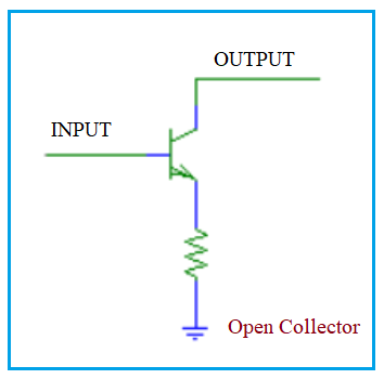 Open collector transistor