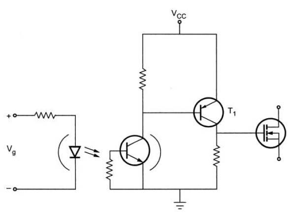 Optocoupler triggering circuit